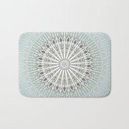 Mint Taupe Mandala Bath Mat