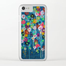 Happy Day floral Clear iPhone Case