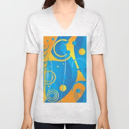 Abstract vector Unisex V-Neck