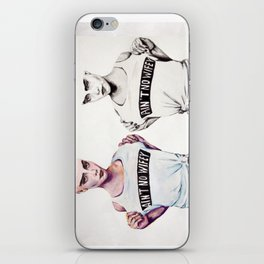 Double Delevingne iPhone Skin