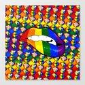 LGBTQ Rainbow Lips Bite by jlfotograffiti