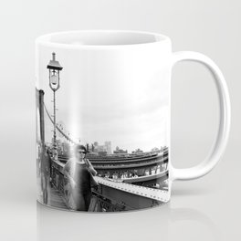 Walking the Brooklyn Bridge from Manhattan, New York Coffee Mug