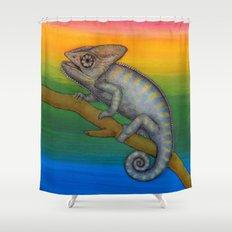 Chameleon (2) Shower Curtain