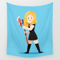 buffy Wall Tapestries featuring Little Warriors: Buffy by Inu Store