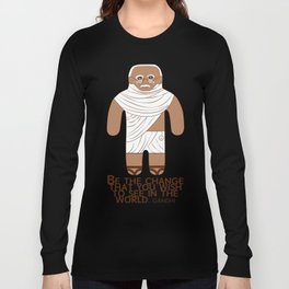 Gandhi Long Sleeve T-shirt
