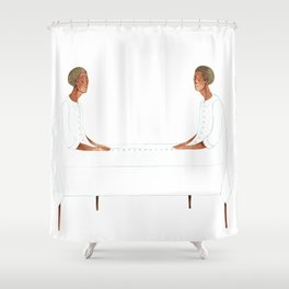 TableTwins Shower Curtain