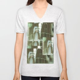 the unbearable tunnel of light and happiness Unisex V-Neck