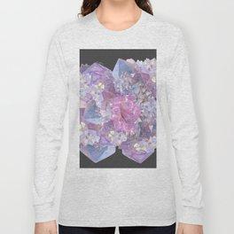 ROSE & PURPLE QUARTZ CRYSTALS MINERAL SPECIMEN Long Sleeve T-shirt