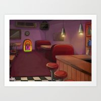 bar Art Prints featuring Bar by Alyssa Leandra Dalangin