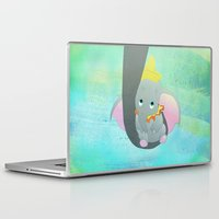 dumbo Laptop & iPad Skins featuring dumbo and his mom by studiomarshallarts