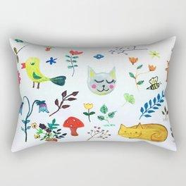 Party in the Garden Rectangular Pillow