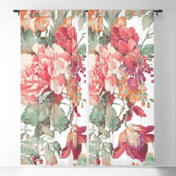 spring garden Blackout Curtain
