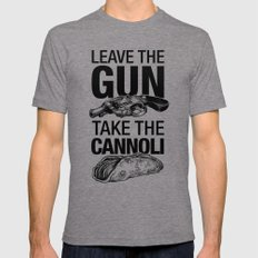 Leave the Gun Take the Cannoli LARGE Mens Fitted Tee Tri-Grey