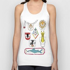 Animals head plaques Unisex Tank Top