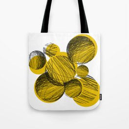 Squiggle Circles [yellow] Tote Bag