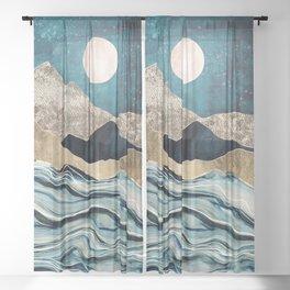 Indigo Sea Sheer Curtain