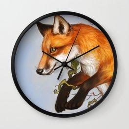 Adventurous fox Wall Clock