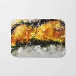 Forest Yellow Mushroom Bath Mat