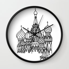 Around the World - Moscow Wall Clock