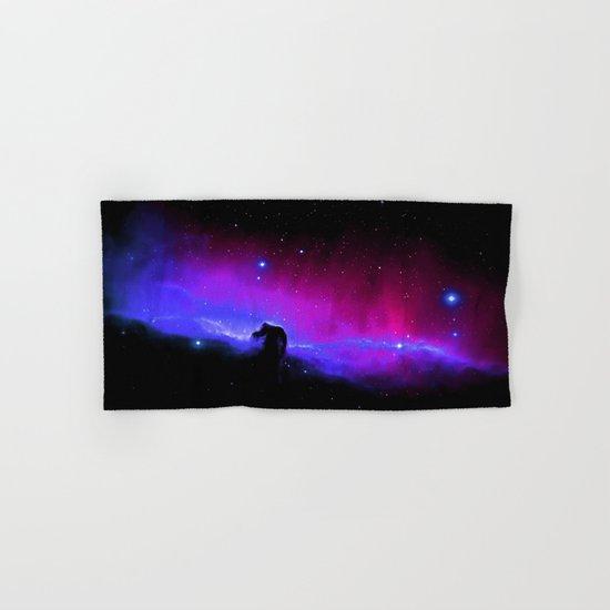 nEbulA : Horsehead Nebula Fuchsia & Violet Hand & Bath Towel
