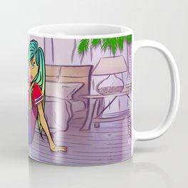 Purple Blazed, Smoking Lady Series Coffee Mug