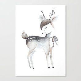 Whimsical fawn Canvas Print