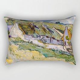 "Vincent van Gogh ""Cottages"" Rectangular Pillow"