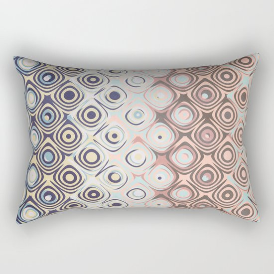 Round Retro Rings Rectangular Pillow