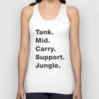 league Tank Tops featuring League Shirt by hana prints