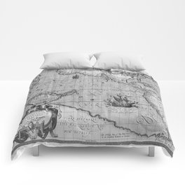Old World Map print from 1589 Comforters