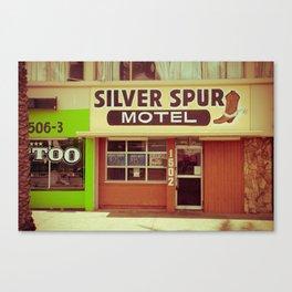 Silver Spur Motel Canvas Print