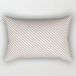 Warm Taupe Stripe Rectangular Pillow