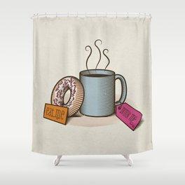 Breakfast in Wonderland Shower Curtain