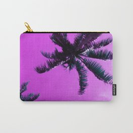 Palm Trees In Lilac Orchid Sunrise Tropical Sky Carry-All Pouch