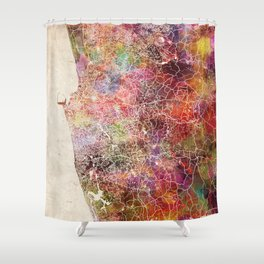 Colombo map Shower Curtain