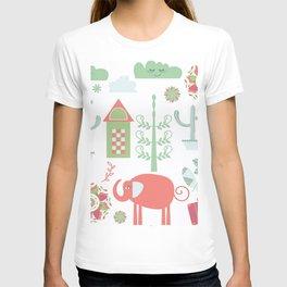Travel pattern 4v T-shirt