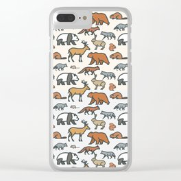 Animal pattern Clear iPhone Case