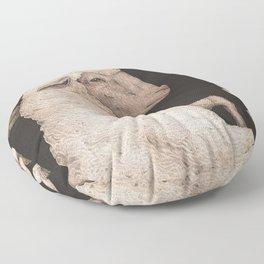 The Sheep and Blackberries Floor Pillow