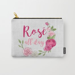 Rose All Day - White Wood Carry-All Pouch