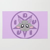 satan Area & Throw Rugs featuring Satan Says I'm Kawaii! by Vivid Apparel