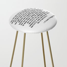 She was beautiful - Fitzgerald quote Counter Stool