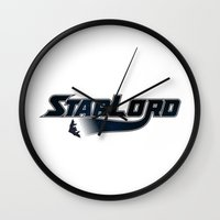 starfox Wall Clocks featuring StarLord by Byway