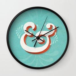 Caslon Pro ampersand Wall Clock