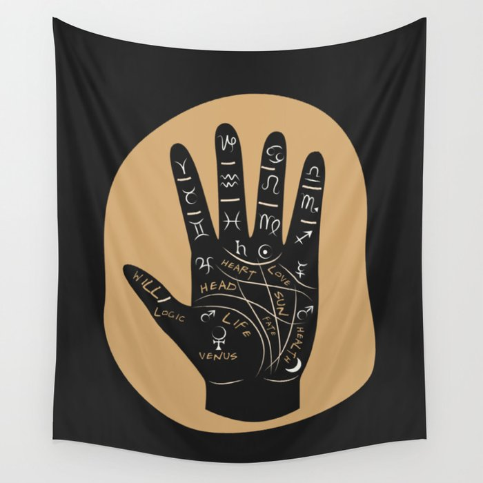 Palm Reading Wall Tapestry