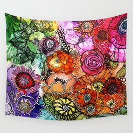 Razzle D Floral Wall Tapestry