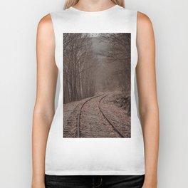 Eerie Train Tracks (Color) Biker Tank