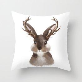 Wild Jackalope Throw Pillow