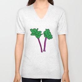 Rhubarb Unisex V-Neck