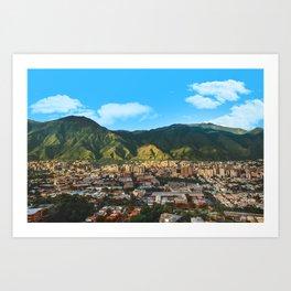 El Avila, Caracas Venezuela Art Print