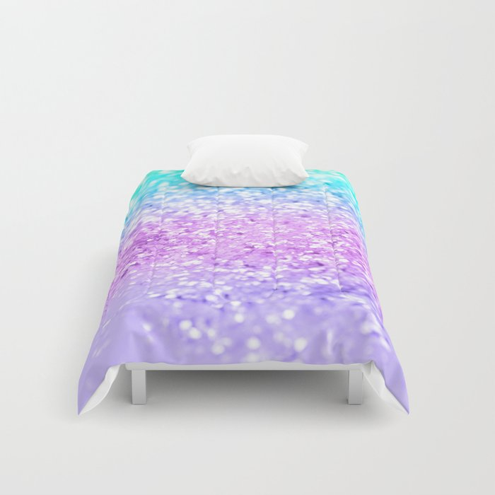 Unicorn Girls Glitter #9 #shiny #decor #art #society6 Comforters